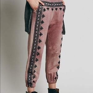Free People Fez Embroidered Harem Pant